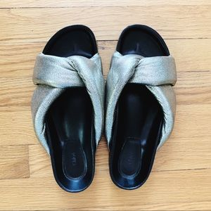 CHLOE metallic twist slides